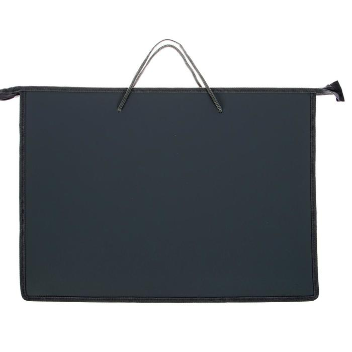 Folder A2, with handles, plastic, zipper on top, 640 x 470 mm, gray