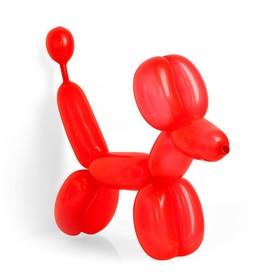 Шар для моделирования 260, пастель, набор 100 шт., цвет красный