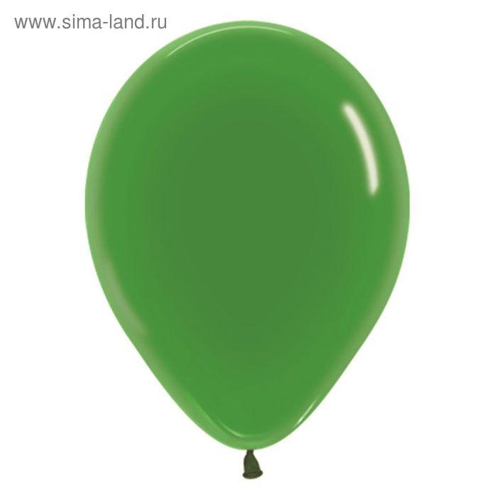 """Шар латексный 12"""", кристалл, набор 100 шт., цвет зелёный"""