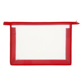 Folder plastic A4, zipper on top, Office B / CV, red