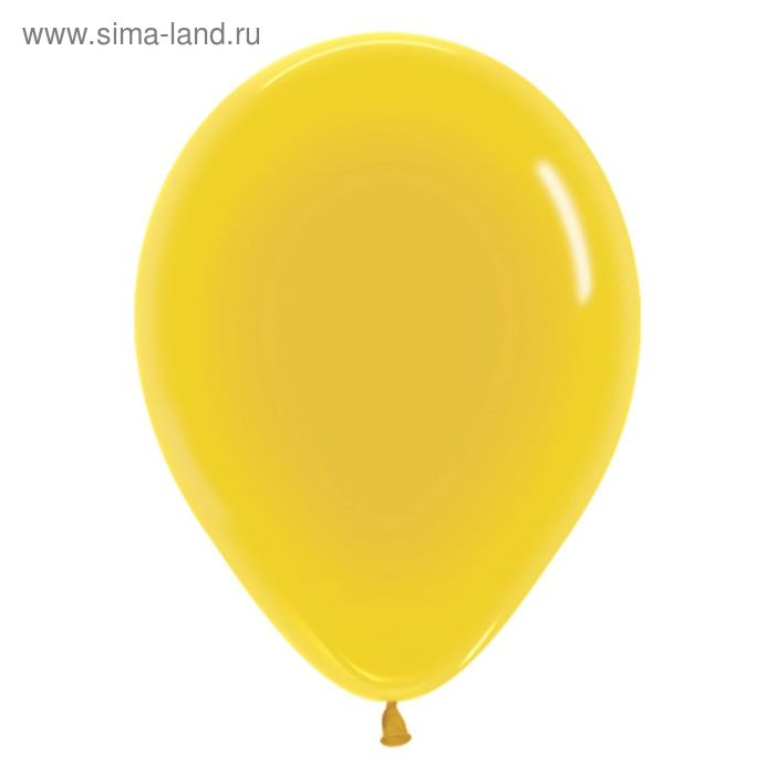 "Шар латексный 12"", кристалл, набор 100 шт., цвет жёлтый"