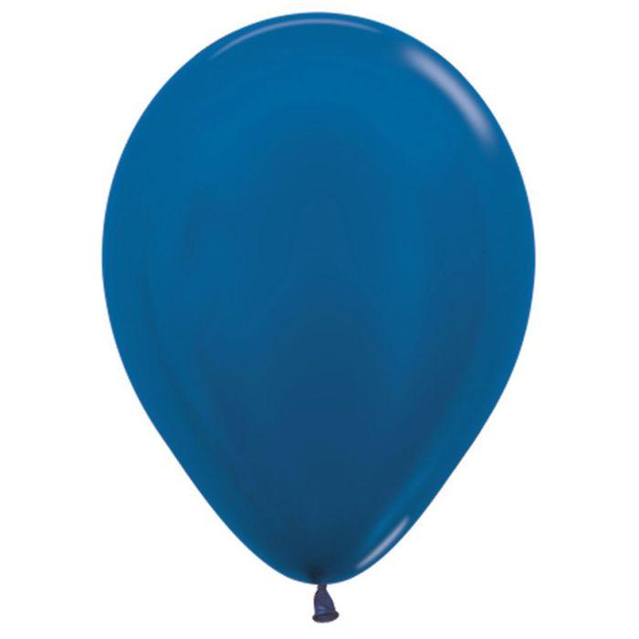 """Шар латексный 12"""", металл, набор 100 шт., цвет синий 540 - фото 138493429"""