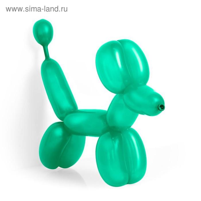 Шар для моделирования 260, пастель, набор 100 шт., цвет зелёный