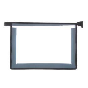 Папка пластиковая А4, молния сверху, прозрачная, «Офис», ПМ-А4-02, чёрная