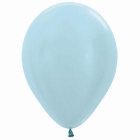 """Шар латексный 12"""", перламутр, набор 100 шт., цвет голубой 440"""