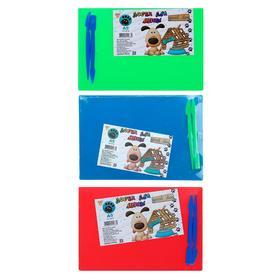 Доска для лепки А5, цветная, микс 3 цвета (зеленый, синий, красный)