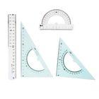 Набор геометрический большой (линейка 20см, транспортир, треугольник-2шт 30/60, 45/45)