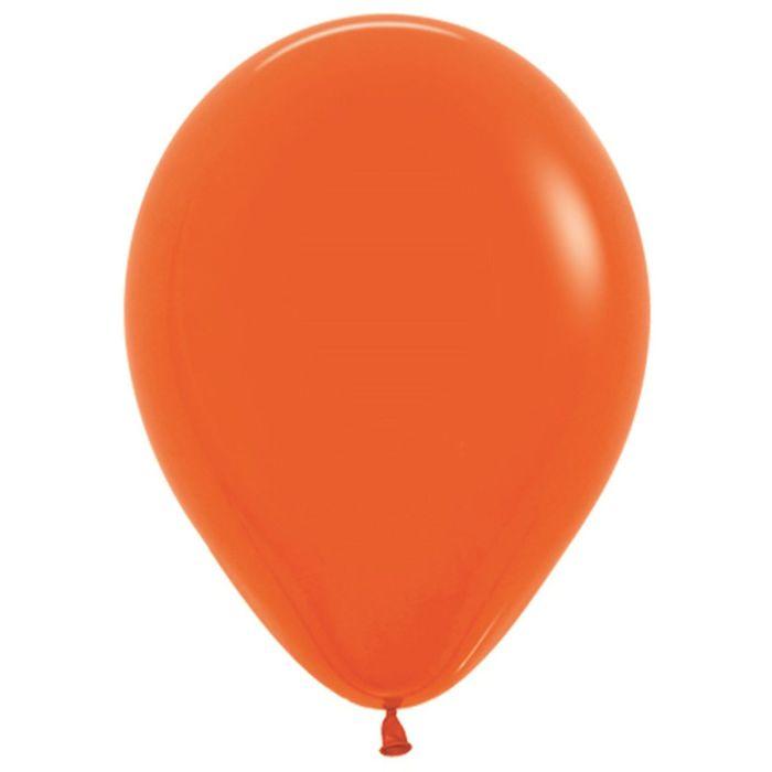 """Шар латексный 12"""", пастель, набор 100 шт., цвет оранжевый 061 - фото 308467372"""