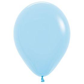 """Шар латексный 12"""", пастель, набор 100 шт., цвет светло-голубой 140"""