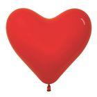 """Шар латексный 16"""" """"Сердце"""", набор 100 шт., цвет красный - фото 953426"""