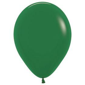 """Шар латексный 12"""", пастель, набор 100 шт., цвет тёмно-зелёный 032"""