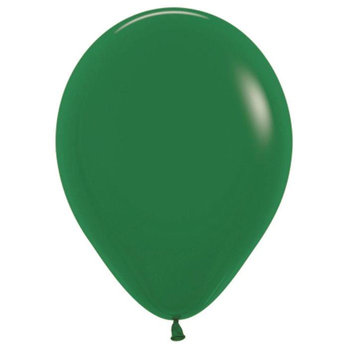 """Шар латексный 12"""", пастель, набор 100 шт., цвет тёмно-зелёный 032 - фото 308467378"""