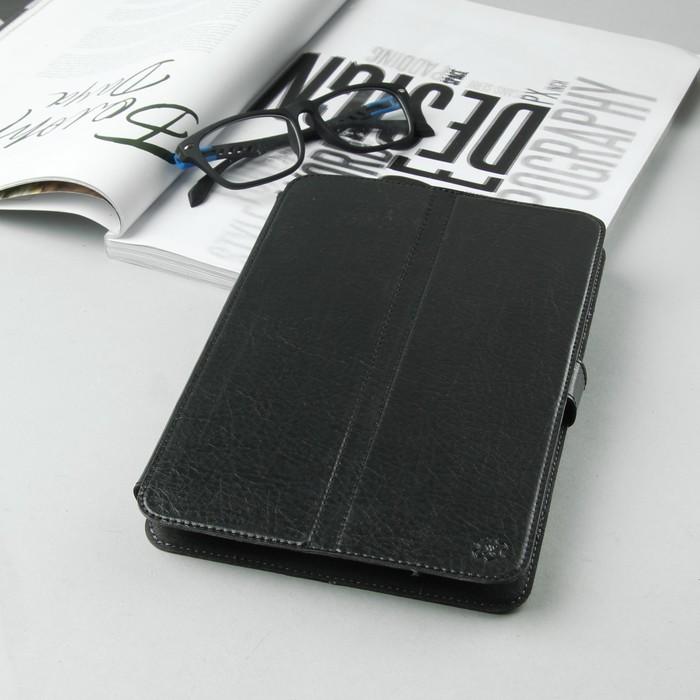 Чехол-книжка для планшета, с уголками, левосторонняя камера, цвет чёрный