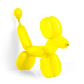 Шар для моделирования 260, пастель, набор 100 шт., цвет жёлтый