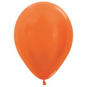 """Шар латексный 12"""", металл, набор 100 шт., цвет оранжевый 561"""