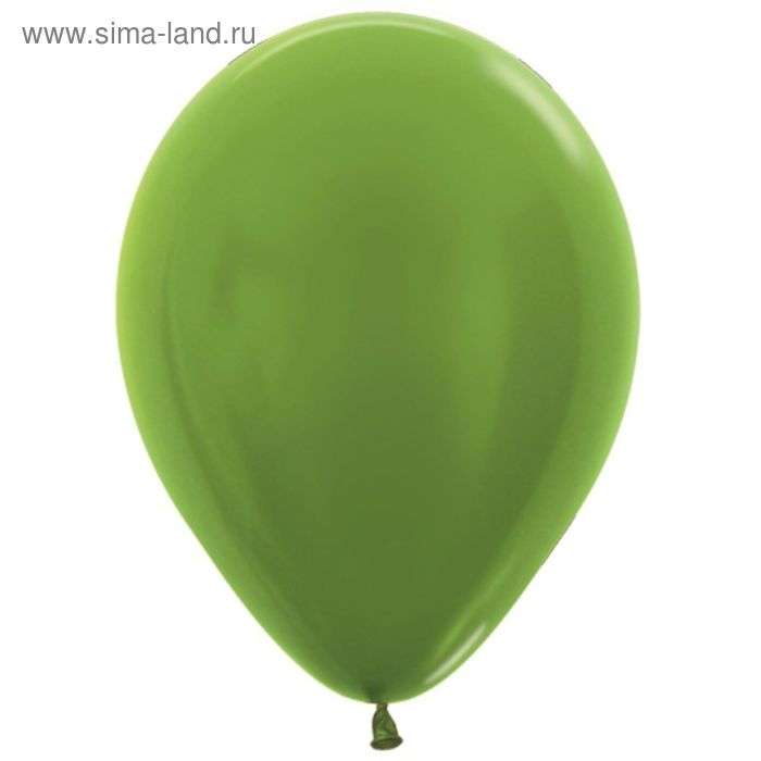 """Шар латексный 12"""", металл, набор 100 шт., цвет светло-зелёный 531"""