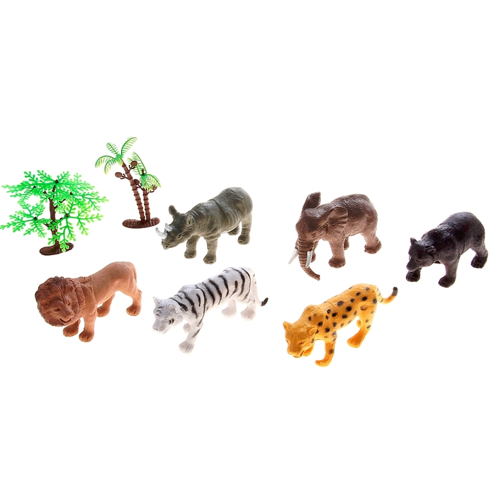 "Набор животных ""Африка"" с аксессуарами, 6 фигурок"