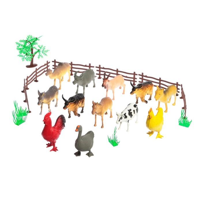 "Набор животных ""Моя ферма"", 12 фигурок, с аксессуарами"