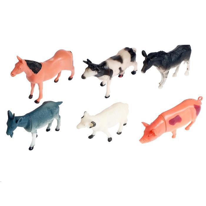 """Набор животных """"Домашние животные"""", 6 фигурок"""