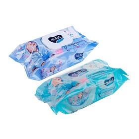 Влажные салфетки «Aura Ultra Comfort», детские с экстрактом алоэ, 120 шт