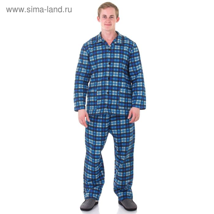 Пижама мужская Алексей МИКС, р-р 46 фланель