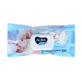 Салфетки влажные «Aura Ultra Comfort», детские, гипоаллергенные, 100 шт