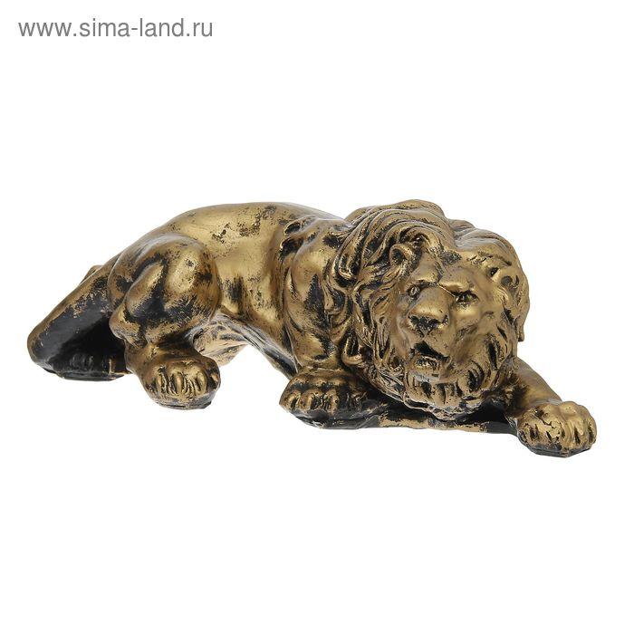 """Садовая фигура """"Крадущийся лев"""" бронза"""