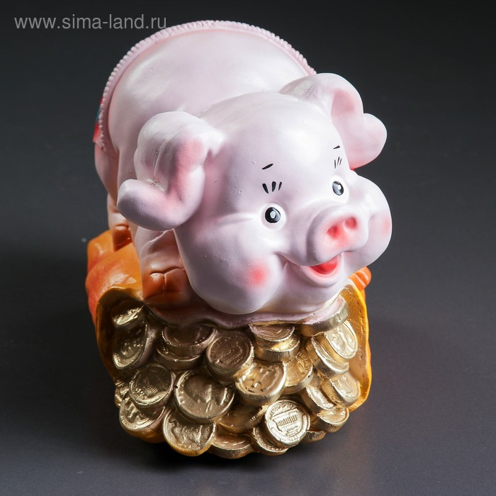 """Копилка """"Свинка на монетах"""""""