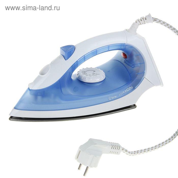 Утюг LuazON LU-02, 1200Вт, тефлоновая подошва, синий