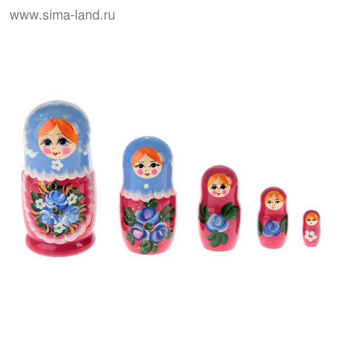 """Матрешка """"Васильки"""" 5 кукол, полхов-майданская роспись"""