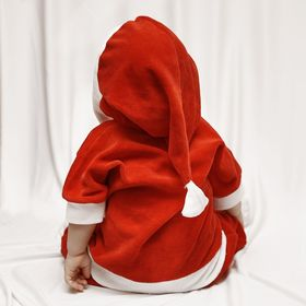 "Carnival jumpsuit for the kids ""Santa Claus"", velour, height 68-92 cm, color red, shades MIX"