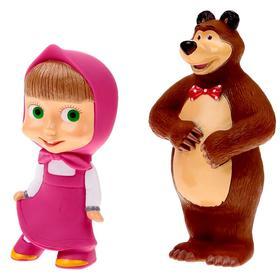 Набор резиновых игрушек «Маша и Медведь»
