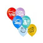 """Шар латексный 12"""" Disney """"Тачки"""", пастель, 2-сторонний рисунок, набор 50 шт., цвета МИКС - фото 199905743"""
