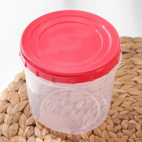 Set of round containers with screw caps, 2 pcs: 500 ml, 1 l, MIX color