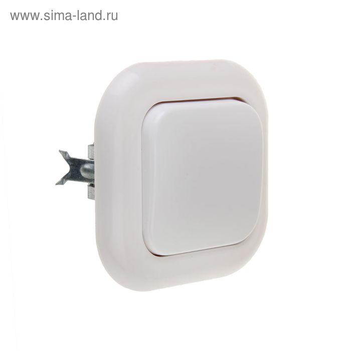 """Выключатель """"Кунцево"""" С16-040 Валентина 7643, 10 А, одноклавшный, скрытый, белый"""