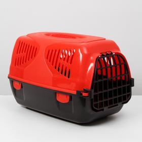 """Переноска для животных  """"Сириус"""", 33,5х31х50 см, цвет красный"""