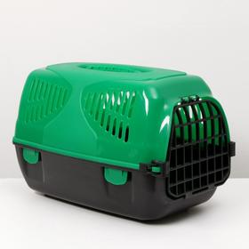 "Переноска для животных  ""Сириус"", 33,5 х 31 х 50 см, цвет зелёный"