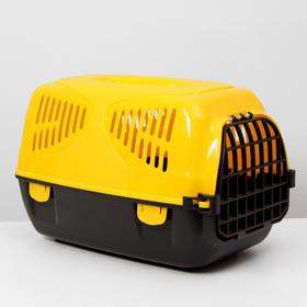 "Переноска для животных  ""Сириус"", 33,5х31х50 см, цвет жёлтый"