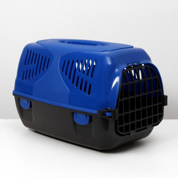 """Переноска для животных  """"Сириус"""", 33,5х31х50 см, цвет синий - фото 78351"""
