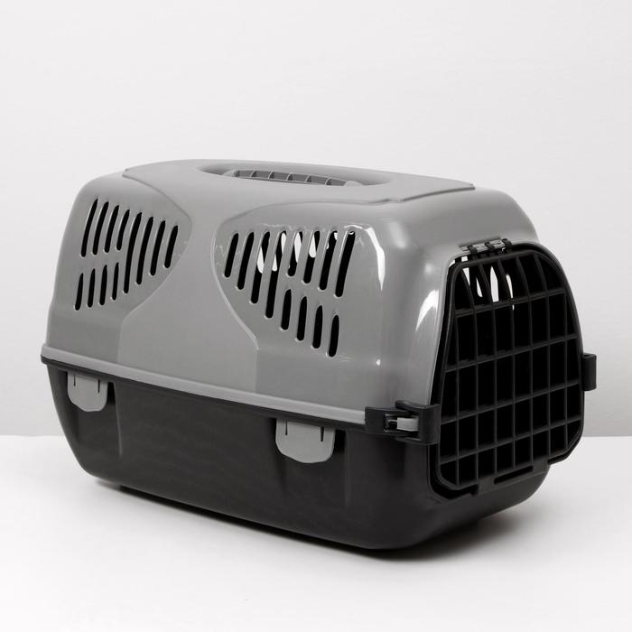 "Переноска для животных  ""Сириус"", 33,5х31х50 см, цвет серый - фото 78353"
