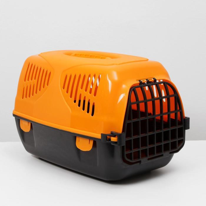 "Переноска для животных  ""Сириус"", 33,5х31х50 см, цвет оранжевый"