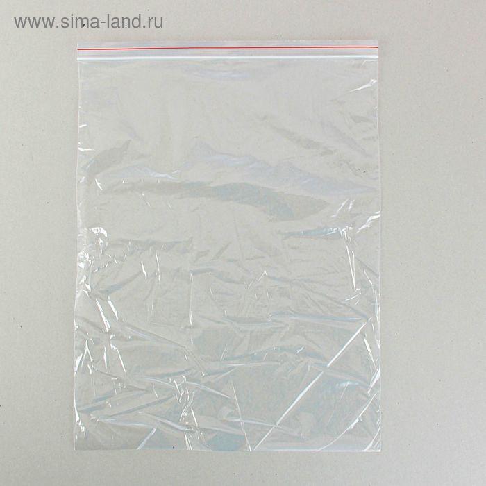 Пакет zip lock 35 х 45 см (с красной полосой)