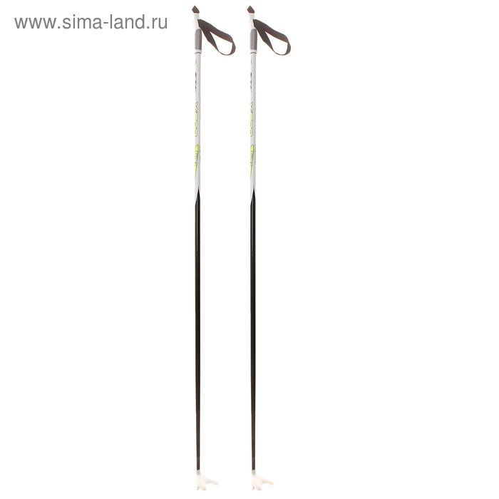 Палки лыжные стеклопластиковые БРЕНД ЦСТ, р. 145 см, цвета МИКС