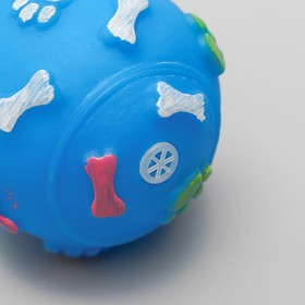 """Toy squeaking """"Dumbbell 100 kg"""", 17.5 cm, mix colors"""