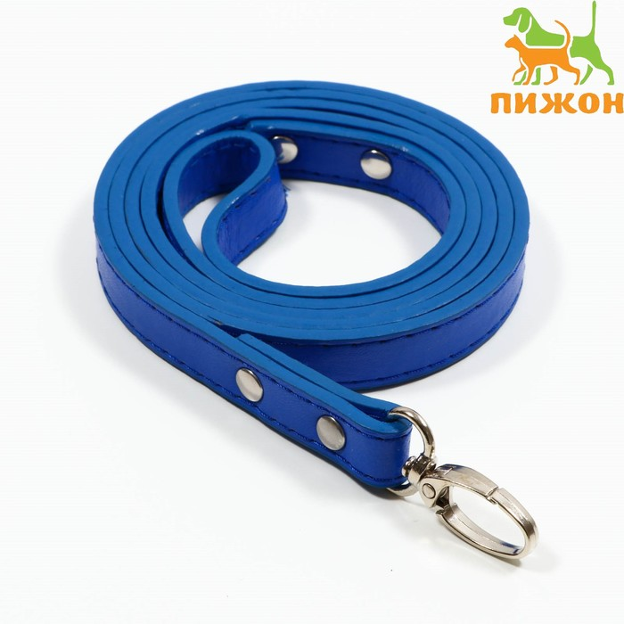 "Leash ""Basic"" 120 x 1.5 cm, blue"