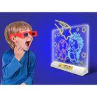 Доска для рисования 3D, БОНУС — куколка картонная (2 шт), вырезная бумажная одежда (2 комплекта)