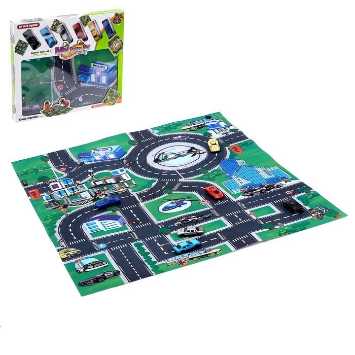 Коврик игровой «Город», с 6 машинами