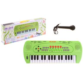 Synthesizer Music with microphone, color green