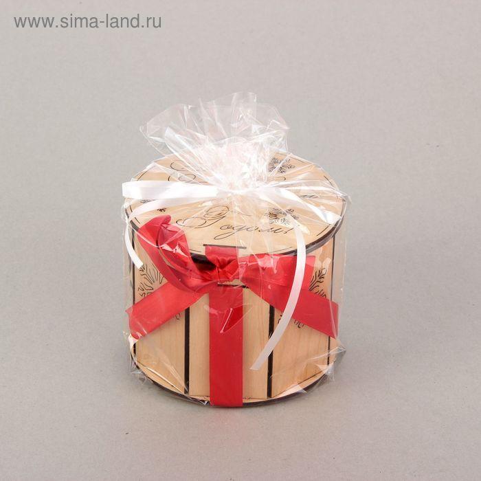 """Подарочная коробка, тубус """"Снежинки"""", 12,5 х 12,5 х 11 см"""