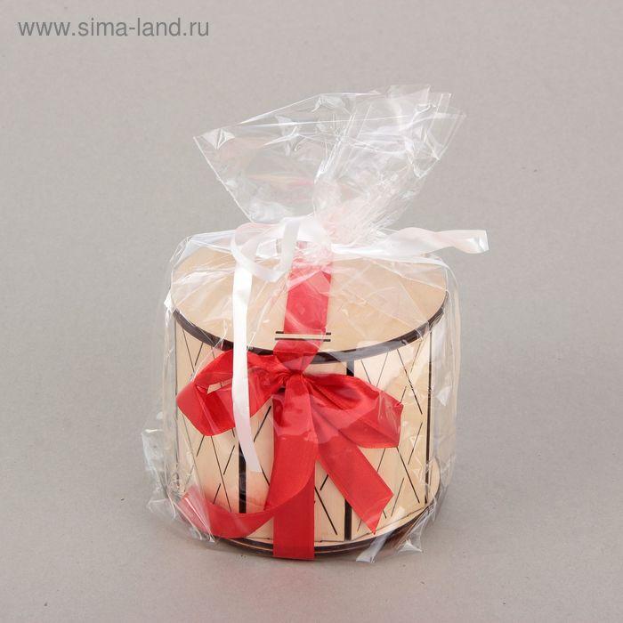 """Подарочная коробка, тубус, """"Ромбы"""", 12,5 х 12,5 х 11 см"""